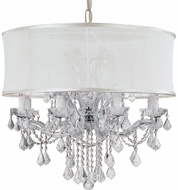 Crystorama 4489-CH-SMW-CLQ Brentwood Polished Chrome Hanging Chandelier