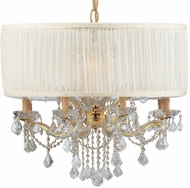Crystorama 4489-GD-SAW-CLM Brentwood Gold Chandelier Lighting