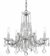 Crystorama 4576-CH-CL-MWP Traditional Crystal Polished Chrome Mini Hanging Chandelier