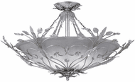 Crystorama 4707-SL Primrose Silver Leaf Ceiling Lighting