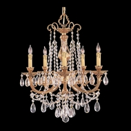 Crystorama 475-OB-CL-MWP Etta Small Clear Crystal 20 Inch Diameter Olde Brass 5 Light Chandelier