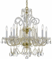 Crystorama 5008-PB-CL-SAQ Traditional Crystal Polished Brass Chandelier Lamp