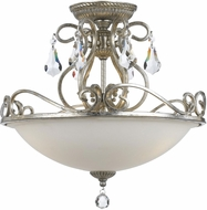 Crystorama 5010-OS-CL-MWP Ashton Olde Silver Ceiling Light