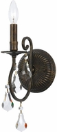 Crystorama 5011-EB-CL-S Ashton English Bronze Candle Wall Light Fixture