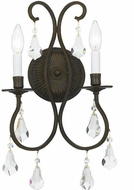 Crystorama 5012-EB-CL-S Ashton English Bronze Candle Wall Lighting Sconce