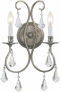 Crystorama 5012-OS-CL-S Ashton Olde Silver Candle Wall Sconce Lighting