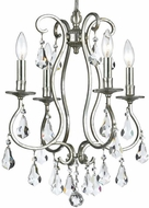 Crystorama 5014-OS-CL-S Ashton Olde Silver Mini Hanging Chandelier