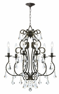 Crystorama 5016-EB-CL-MWP Ashton Small 21 Inch Diameter Traditional Lighting Chandelier - English Bronze