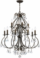 Crystorama 5017-EB-CL-MWP Ashton English Bronze Chandelier Lighting