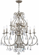 Crystorama 5017-OS-CL-MWP Ashton Olde Silver Lighting Chandelier