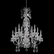 Crystorama 5020-CH-CL-MWP Traditional Crystal Polished Chrome Chandelier Lamp