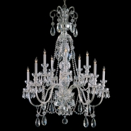 Crystorama 5020-CH-CL-MWP Traditional Crystal 10 Candle 36 Inch Diameter Dining Room Chandelier Lamp