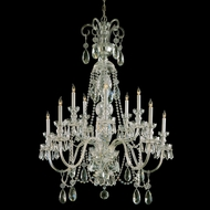 Crystorama 5020-PB-CL-MWP Traditional Crystal Polished Brass Finish 36 Inch Diameter 10 Candle Chandelier Light