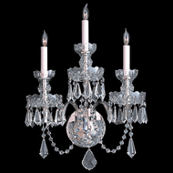Crystorama 5023-CH-CL-MWP Traditional Crystal Polished Chrome Candle Light Sconce