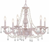Crystorama 5026-AW-CL-SAQ Paris Market Antique White Lighting Chandelier