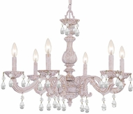 Crystorama 5036-AW-CL-SAQ Paris Market Antique White Hanging Chandelier