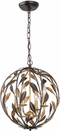 Crystorama 504-EB-GA Broche English Bronze / Antique Gold Drop Ceiling Light Fixture