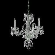 Crystorama 5044-CH-CL-MWP Traditional Crystal 3 Candle 16 Inch Diameter Mini Chandelier - Polished Chrome