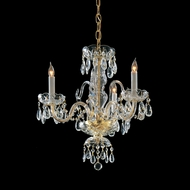 Crystorama 5044-PB-CL-MWP Traditional Crystal 16 Inch Diameter Polished Brass Mini Candle Chandelier Lamp