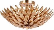 Crystorama 505-GA Broche Antique Gold Ceiling Light Fixture