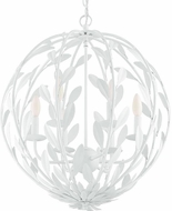 Crystorama 506-MT Broche Matte White 21  Lighting Pendant