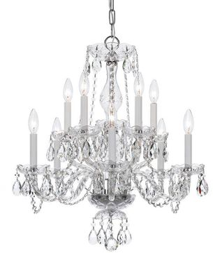Crystorama 5080-CH-CL-MWP Traditional Crystal Polished Chrome Chandelier Light