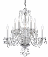 Crystorama 5080-CH-CL-S Traditional Crystal Polished Chrome Chandelier Lighting