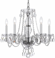 Crystorama 5085-CH-CL-MWP Traditional Crystal Polished Chrome Mini Hanging Chandelier