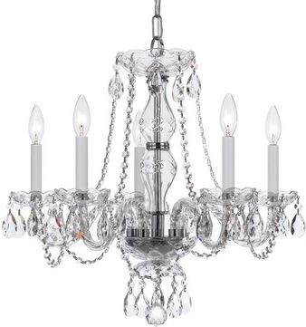 Crystorama 5085-CH-CL-SAQ Traditional Crystal Polished Chrome Mini Chandelier Lighting