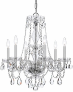 Crystorama 5086-CH-CL-SAQ Traditional Crystal Polished Chrome Chandelier Light