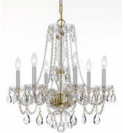 Crystorama 5086-PB-CL-SAQ Traditional Crystal Polished Brass Chandelier Lamp