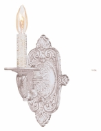 Crystorama 5111-AW Paris Flea Market Antique White 15 Inch Tall Candle Sconce Lighting