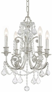 Crystorama 5114-OS-CL-S Regis Olde Silver Mini Hanging Chandelier