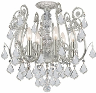 Crystorama 5115-OS-CL-S Regis Olde Silver Ceiling Lighting Fixture