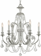 Crystorama 5116-OS-CL-S Regis Olde Silver Chandelier Lamp
