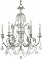 Crystorama 5116-OS-CL-SAQ Regis Olde Silver Chandelier Light