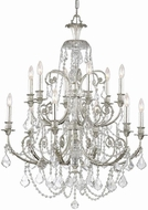 Crystorama 5119-OS-CL-SAQ Regis Olde Silver Chandelier Lamp