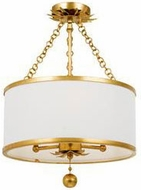 Crystorama 513-GA-CEILING Broche Antique Gold Ceiling Lighting Fixture