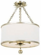 Crystorama 513-SA-CEILING Broche Antique Silver Ceiling Light Fixture
