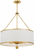 Crystorama 515-GA Broche Antique Gold Drum Hanging Light Fixture