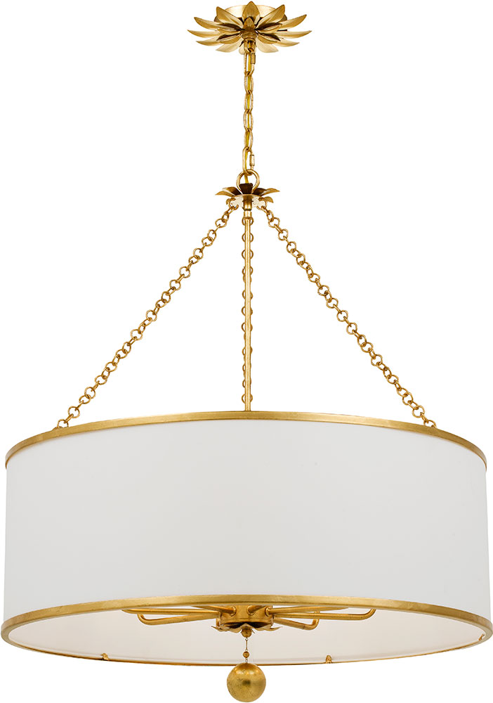 Crystorama 515 Ga Broche Antique Gold Drum Hanging Light