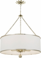Crystorama 515-SA Broche Antique Silver Drum Drop Lighting