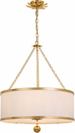 Crystorama 518-GA Broche Antique Gold Drum Drop Ceiling Lighting
