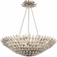 Crystorama 519-SA Broche Antique Silver Hanging Light