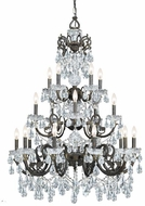 Crystorama 5190-EB-CL-S Legacy English Bronze Hanging Chandelier