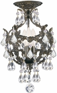 Crystorama 5193-EB-CL-MWP-CEILING Legacy English Bronze Flush Ceiling Light Fixture