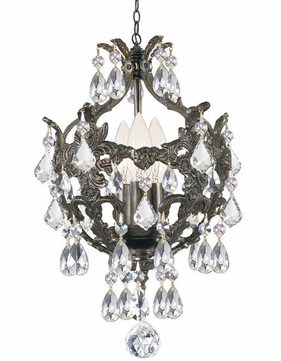 Crystorama 5193-EB-CL-S Legacy English Bronze Clear Swarovski Strass Mini Chandelier Lamp