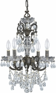 Crystorama 5194-EB-CL-I Legacy English Bronze Mini Chandelier Light
