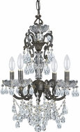 Crystorama 5194-EB-CL-MWP Legacy English Bronze Mini Chandelier Lighting