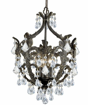 Crystorama 5195-EB-CL-MWP Legacy English Bronze Clear Hand Cut Mini Chandelier Light